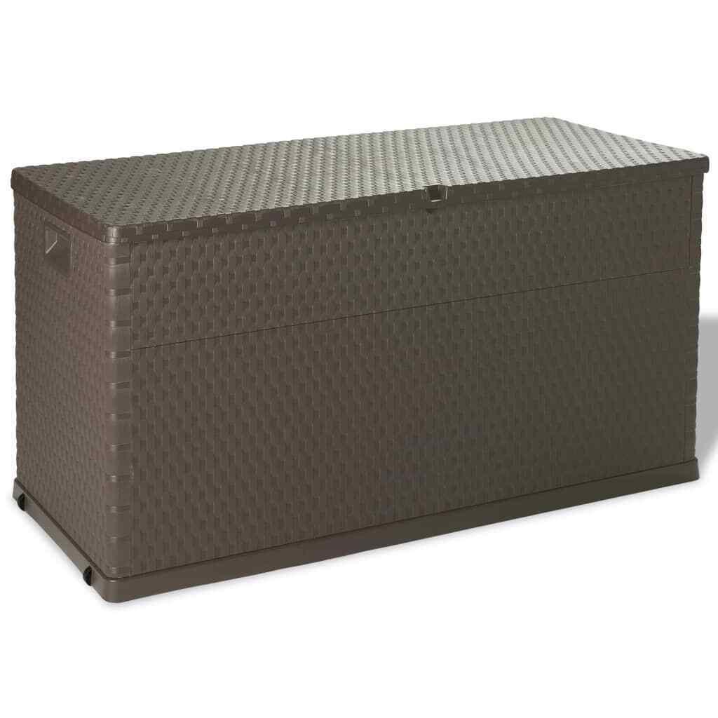 Auflagenbox 420L Braun Kissenbox Gartenbox Gartentruhe Kiste Garten