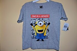 5-6 or 7  NWT Despicable Me Minion Made  Boys Long Sleeve  Size-4