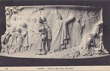 Statue de Mgr Laval Bas Relief QUEBEC Qc Canada 1909 ND Phot Postcard 480