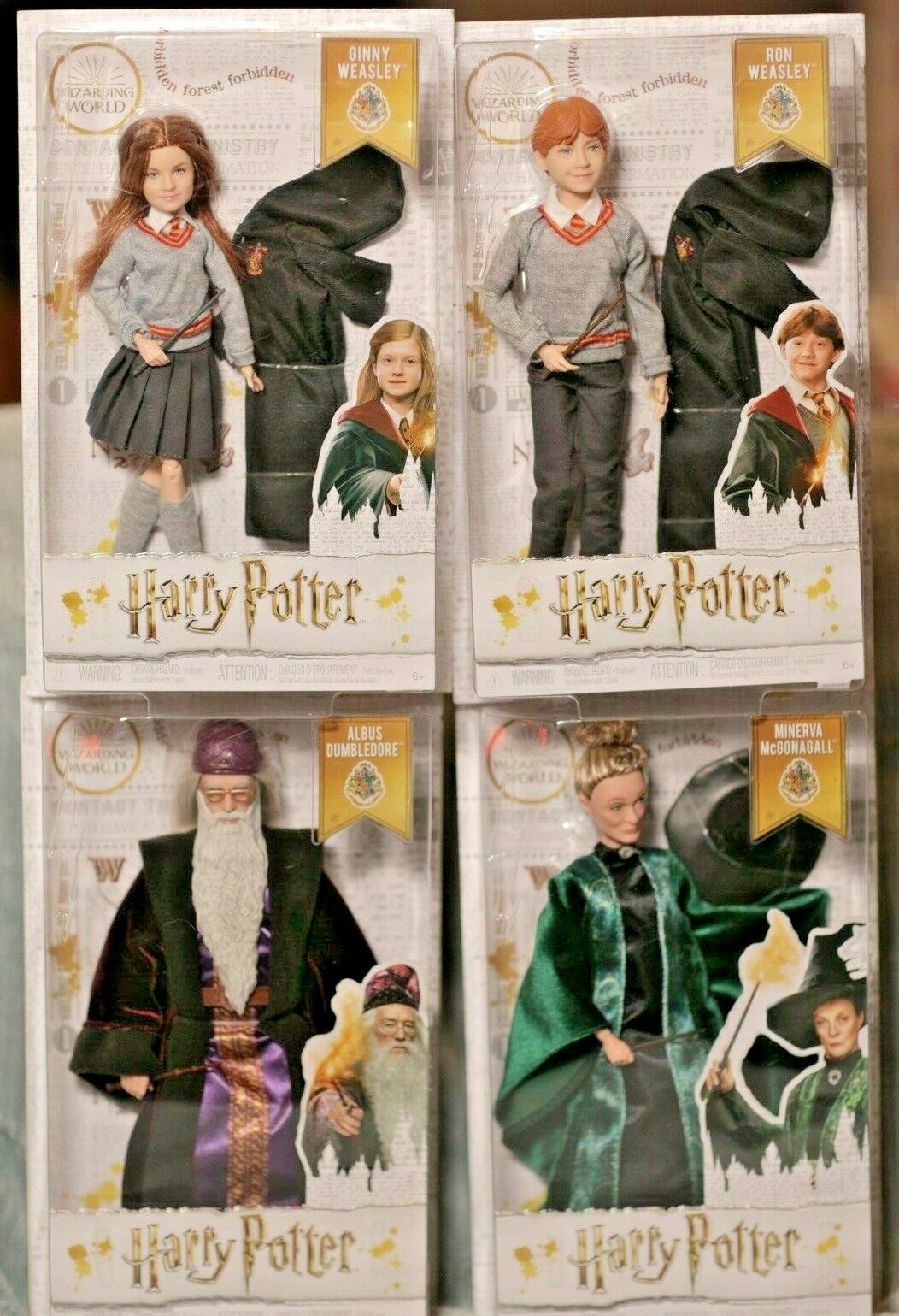 Harry Potter Wizarding World Action Figures DUMBLEDORE McGonagall McGonagall McGonagall RON Ginny Lot d34e6e