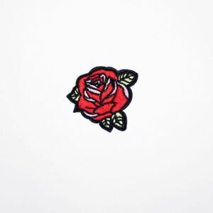 Small-Rose-Flower-Iron-On-Embroidery-Applique-Patch-Sew-Iron-Badge