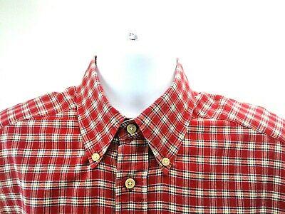 TOMMY  HILFIGER  Men/'s Short Sleeve Blue And White Check shirt Size Large
