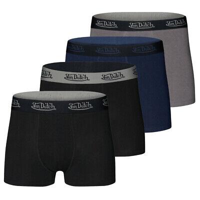 Von Dutch Herren Boxershort Basic Uni S M L XL XXL Baumwolle Trunk ohne Eingriff