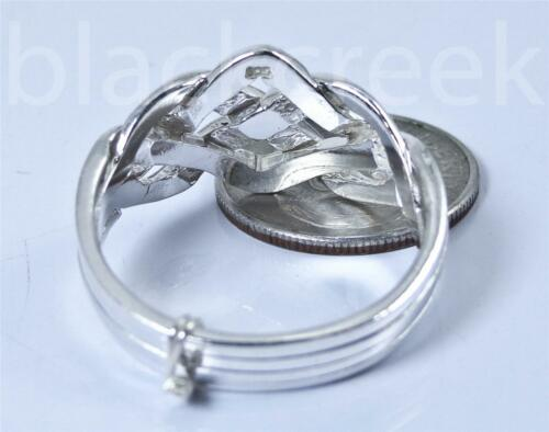 925 Sterling Silver ~ Puzzle Ring ~ Choose Size
