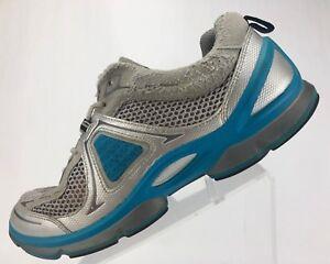 1d4e5029e693 Ecco Biom Performance Trail Running Shoe Gray Blue Comfort Walking ...