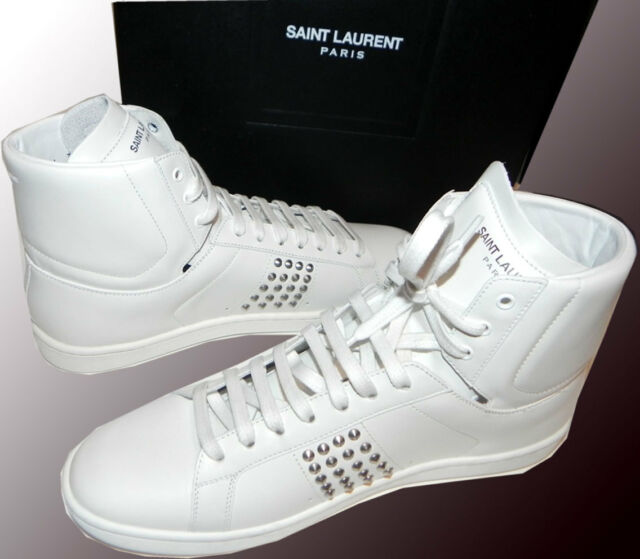 Saint Laurent White Leather High Top