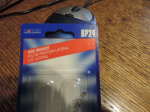 2 Wagner Automotive Auto Bulbs Miniature 24 BP24 Side Marker 12 V NIP