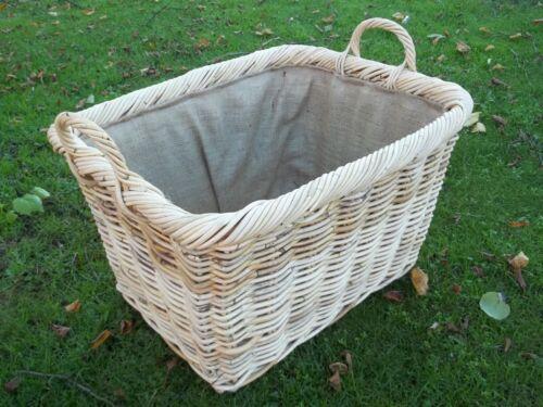 Hell naturaleza cesta de la cosecha de boondot ratán en tamaños de 2 Cesta de chimenea cesta de la madera