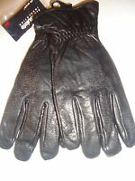 Men's Thinsulate Genuine Leather Drivers Gloves, Xxl, Black