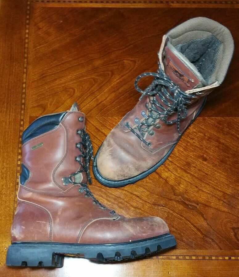 IRISH SETTER 898 Thinsulate Gore Tex Lace Up Boots - Brown Leather Mens Size 9 D