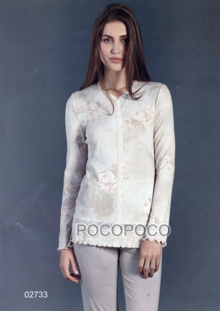 PAJAMAS OPEN WOMAN LONG SLEEVE VISCOSE LINCLALOR ART. 02733