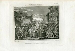 March-To-Finchley-Engraving-By-T-Cook-Over-Artwork-Of-William-Hogarth
