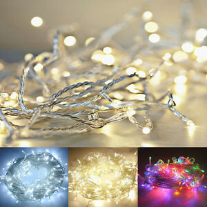 10-100-LEDs-Warmweiss-Weihnachten-Party-Hochzeit-Batterie-LED-Lichterkette-1-10M