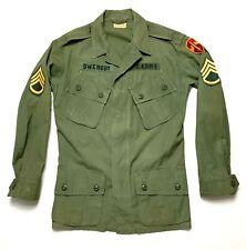Vtg Vietnam War 1ST PATTERN Jungle Jacket Army shirt Special Forces MACV Named