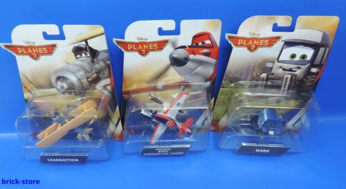 Maru Mattel Disney Planes 2//3er Set//Leadbottom Firefighter Dusty