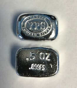 1-2-Troy-Ounce-Hand-Poured-999-Silver-Bullion-034-Nugget-034-by-YPS-Yeager-039-s