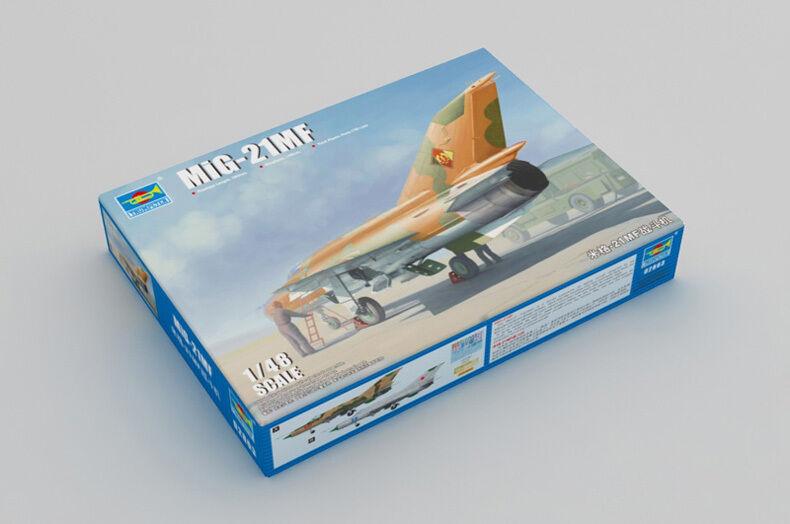 02863 1 48 Model Trumpeter MIG-21MF Fishbed Aircraft Fighter Warplane AirPlane