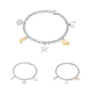 Bracciale-Donna-SECTOR-NATURE-amp-LOVE-Acciaio-Pendenti-Charms-Gold-Rose
