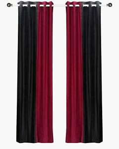 Delancy-Black-and-Burgundy-ring-top-Velvet-Curtain-Panel-Piece