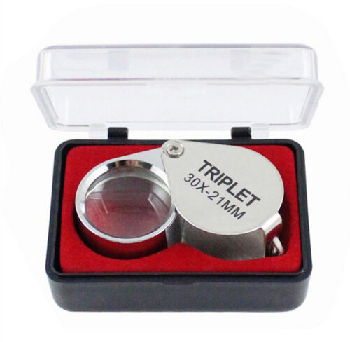 Portable Jewellers Pocket Lens 30X 21mm Loupe Magnifying Eye Glass MagnifierUSEF