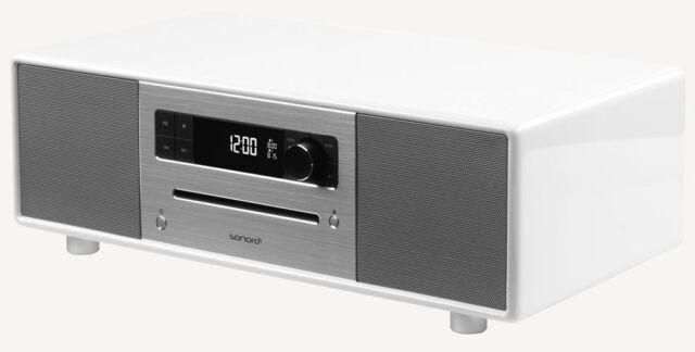 Sonoro Stereo White Cd Radio Dab Bluetooth Kitchen Portable