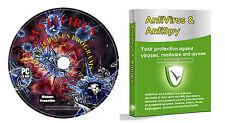 Anti-Virus Anti-Spyware Trojan Removal Software + Data Recovery, PC CD Rom