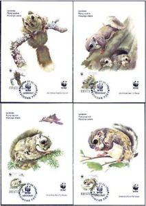 Estonia-Endangered-Flying-Squirrel-Mint-Maxi-Cards-4-Viro-WWF-1994