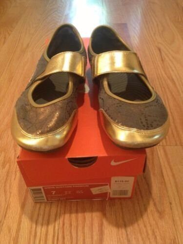 Nike Sunyassi Premium Shoes Laceless Sneakers Color. Slip-Ons. Size 7. Grey/gold Color. Sneakers 35f913
