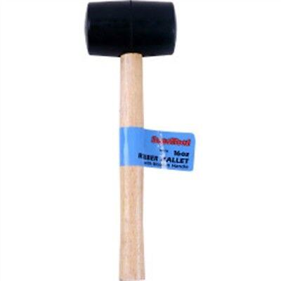 16oz Rubber Mallet With Wooden Shaft - Supatool Een Effect Produceren Voor Een Heldere Visie