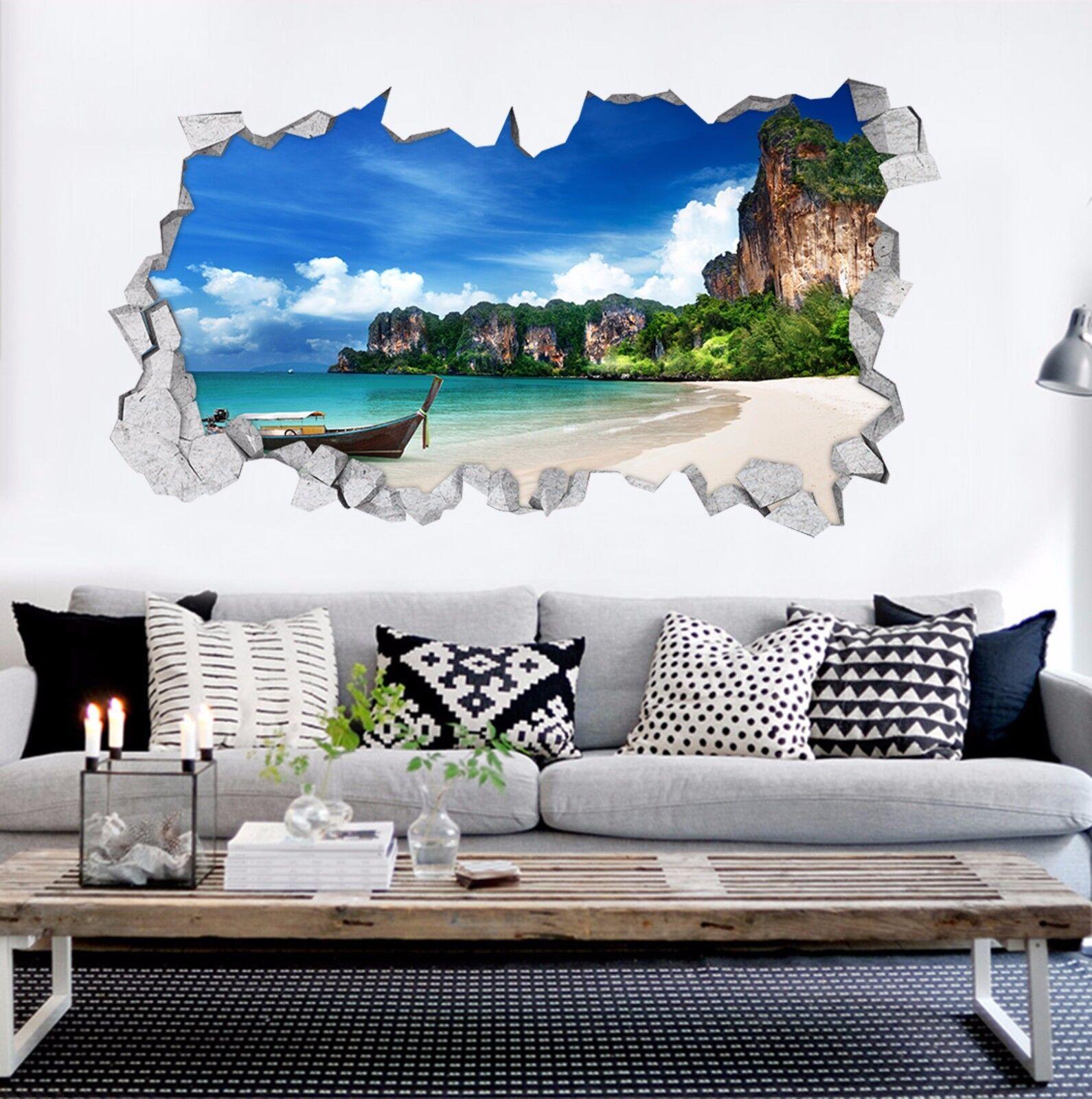 3D Strand Island 8  Mauer Murals Mauer Aufklebe Decal Durchbruch AJ WALLPAPER DE