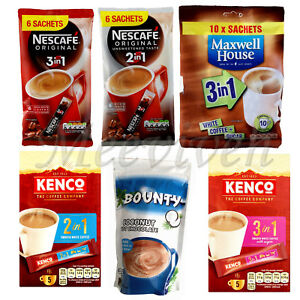 Details About Nescafe Original 3 In 1 2 In 1 Kenco Maxwell House 3 In 1 Bounty Coconut