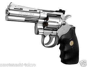 Details about Colt Python 357 Magnum 4 inch Stainless Model Air Hop Hand  Gun Tokyo Marui Japan