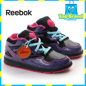 REEBOK-PUMPS-GIRLS-SHOES-CUTE-CLASSIC-VERSA-OMNI-LITE-INFANT-SIZE-4-US