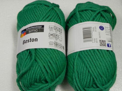 2x50g Boston,Wolle,Schachenmayr,hellgrün 172 Stulpen stricken Mützen,Schals