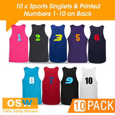 Lower Price with 10 X Light Weight Cool Dry Sports/jersey/basketball Singlets Clothing, Shoes & Accessories Printed Numbers Men's Clothing
