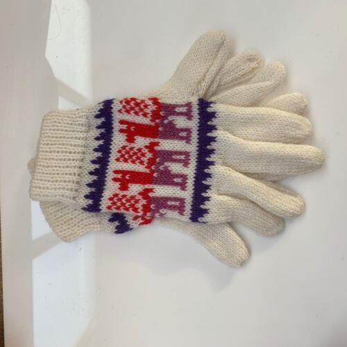 Ladies Llama Design Woollen Gloves Choice of Colours 100/% Wool from Ecuador