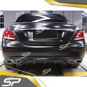 Heck Diffusor + Auspuffblenden für Mercedes Benz W213 S213 mit Serienstoßfänger
