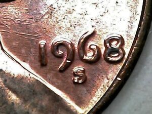 1968-S Double Die Obverse Lincoln Memorial Cent Grading Choice BU RED   n25