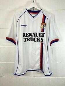 UMBRO Olympique Lyonnais 2003/04 vintage calcio in maglia jersey taglia XL