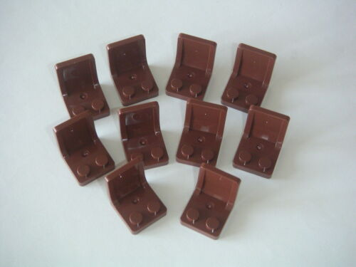 Lego 10 sièges marrons Neufs / New Reddish Brown Seats 2x2 sets REF 4079b