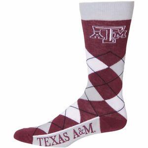 Texas-A-amp-M-NCAA-Argyle-Crew-Socks-By-For-Bare-Feet
