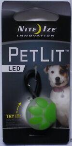 Nite Ize Petlite Stylish White LED Collar Light Blue Burst PCL02-03-03PS NEW