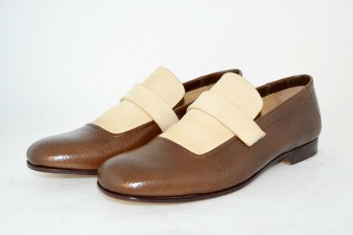 suola pebble vitello Calf leather 9us Man pantofola 8eu slipper Sole Cuoio wXIqzY