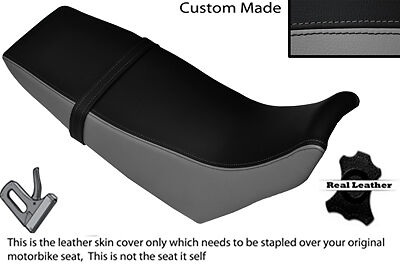 BLACK /& GREY CUSTOM FITS YAMAHA DT 125 RE 04-07 DUAL LEATHER SEAT COVER