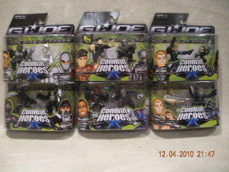 GIJOE Combat 12 Heroes Set of 6 Factory Sealed
