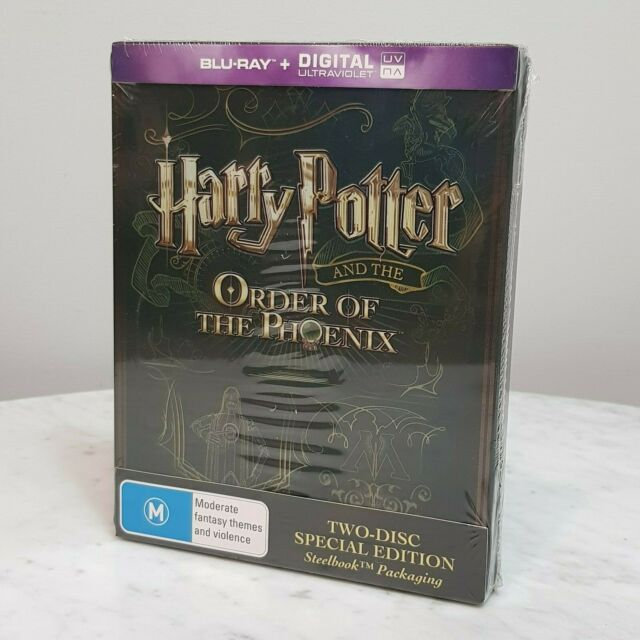 HARRY POTTER And The Order of the Phoenix Steelbook SE Blu Ray NEW *Rare*