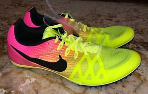 check out 02f44 1a15d Image is loading NIKE-Zoom-Rival-M-8-Volt-Yellow-Pink-