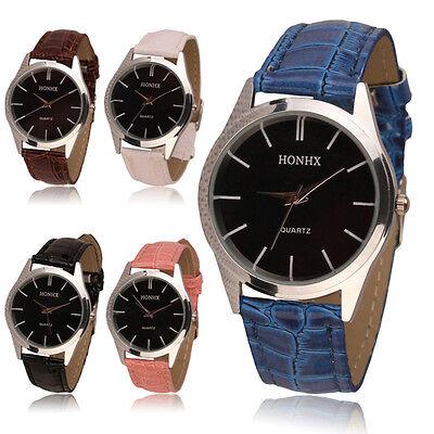 2017 Popular Unisex Watches Leather Quartz Analog Dress Bracelet Wrist Watch Hot
