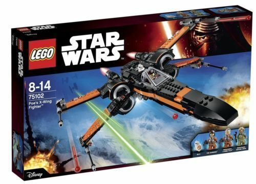 Lego 75102 Star Wars Ep7 Force Awakens Poe's X-wing Fighter 717pcs Building