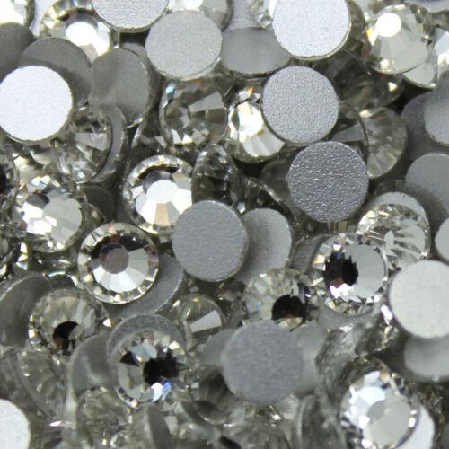 144~1440pcs Gava Flatback Rhinestones Crystal AB//Clear SS3~40 Nail Art Crystal